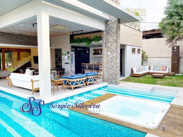 Casa no Alphaville Fortaleza mobiliada e climatizada, com piscina privativa, alto padrão - Foto 2