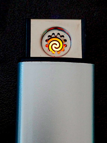 Isqueiro Elétrico Recarregável USB Evite Acidente Com Álcool