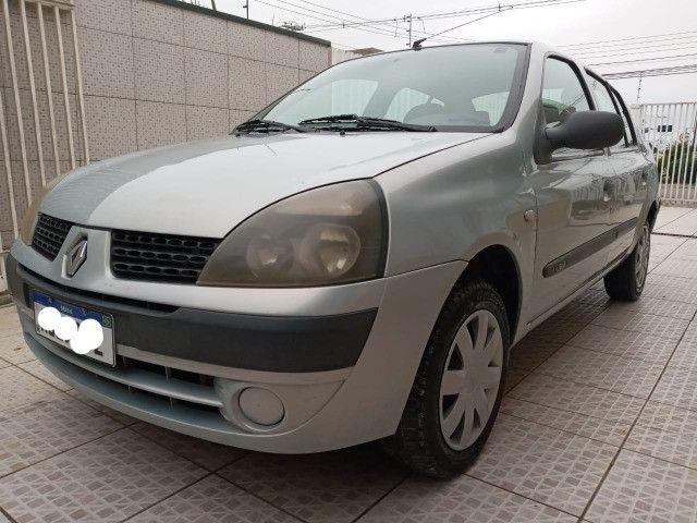 renault sedan 2005 completo 1.0 ( ou troco moto acima 2015 bx km )  - Foto 7