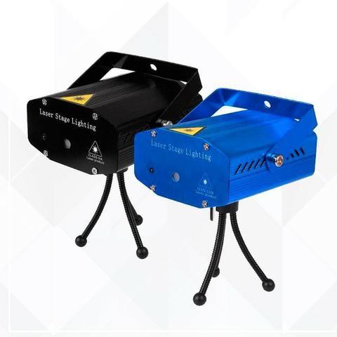 Mini Laser Stage Lighting Projetor Holografico 4 Desenhos