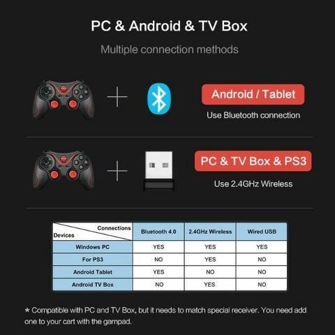 Suporte App Oficial Sem Fio Bluetooth Gamepad Controlador de Jogo