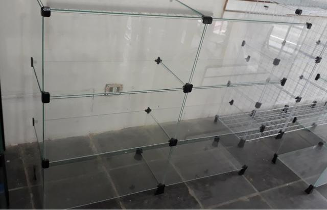 Balcão de vidro 1.20mt em 12x sem juros no cartão