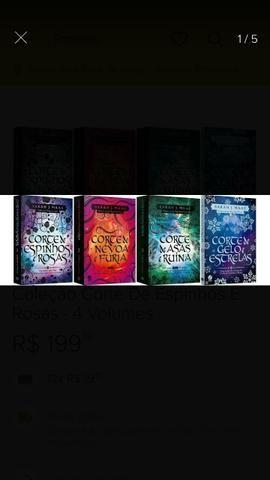 Coleção corte de espinhos e rosas- 4 volumes
