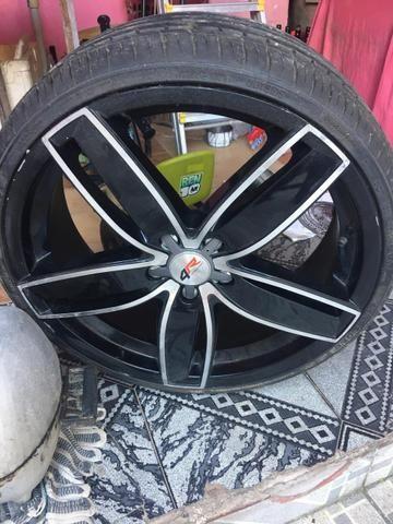 Vendo Rodao 20 com dois pneu novos e dois meia vida - Foto 5