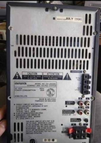 Micro system Aiwa lcx 800 para retirada de peças - Foto 3