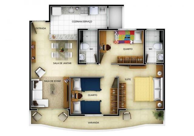 Apartamento residencial à venda, engenheiro luciano cavalcante, fortaleza. - Foto 14