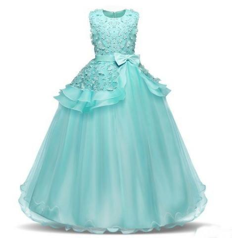 d923e9808c Vestido Infantil Longo Festa - Dama de Honra