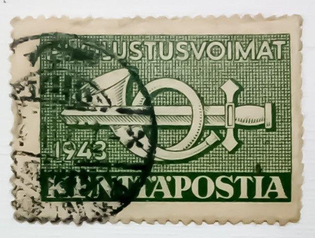 3 Selos Finlandeses 1943 e 1944 - Puolustusvoimat - Raridade - Foto 2