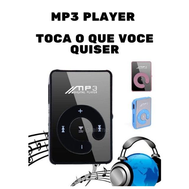 Clip USB Digital Mp3 Music Player Support 8GB