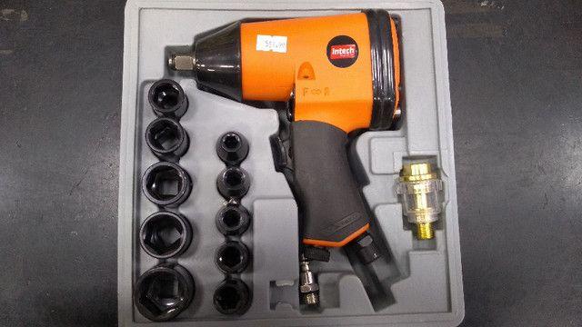 Jg Com 17 Pçs - Chave Parafusadeira De Impacto Pneu. 1/2 Pol - Foto 3
