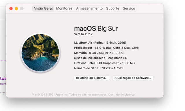 "MacBook Air 13"" 2019, Intel i5 1.6Ghz, SSD 128GB, 8GB  - Foto 3"