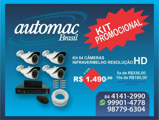 Kit dvr 4 câmeras