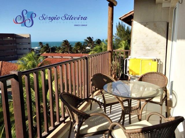 Vista mar linda Apartamento no Porto das Dunas com 2 quartos pé na areia Beach Living