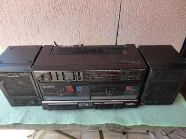 Rádio Gravador Sony Antigo Leia Campo Descrição Deste Anúnci
