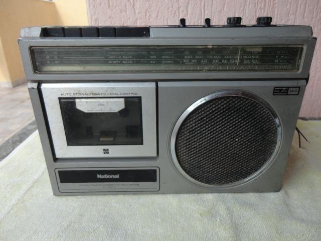 Antigo Rádio Toca Fita National No Estado Leia Cpo Descrição - Foto 6