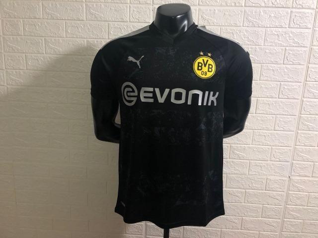 Camisa Borussia Dortmund 2019/2020 - Preto