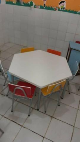 Conjunto de mesa escolar