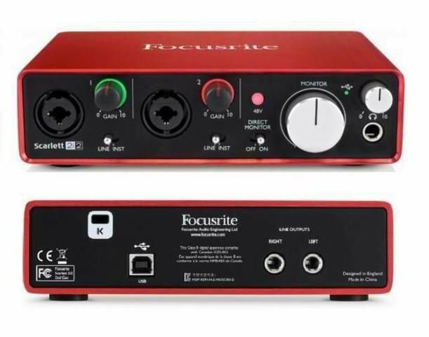 Focusrite Scarlett 2i2 Interface De Áudio Usb 24-bit 2 Gnd