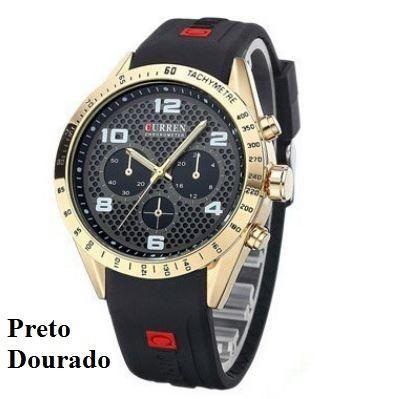 0677a325a Relógio Curren Homens de Luxo Esporte de Silicone - Bijouterias ...