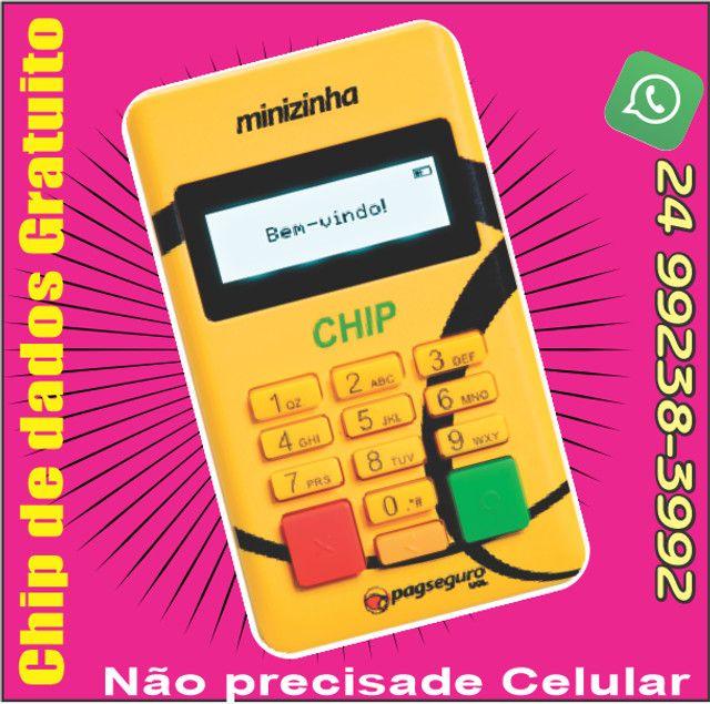 Mini Chip Maquina de Cartão -não precisa de celular - Foto 2
