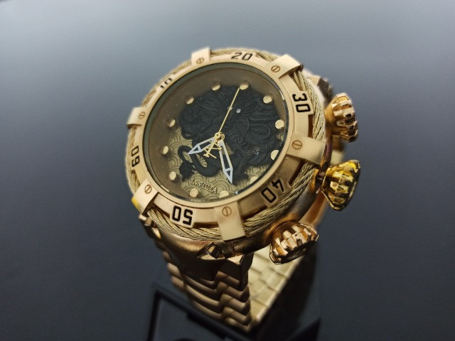 Relógio Masculino dourado thunderbolt - Foto 2