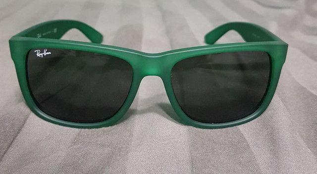 Óculos De Sol Ray Ban Justin Verde