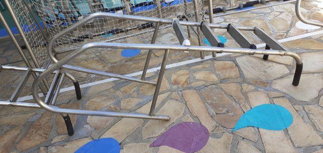 Escada Em Aço Inoxidável 1¹/2'' Com 4 Degraus Inox Para Piscina - Foto 2