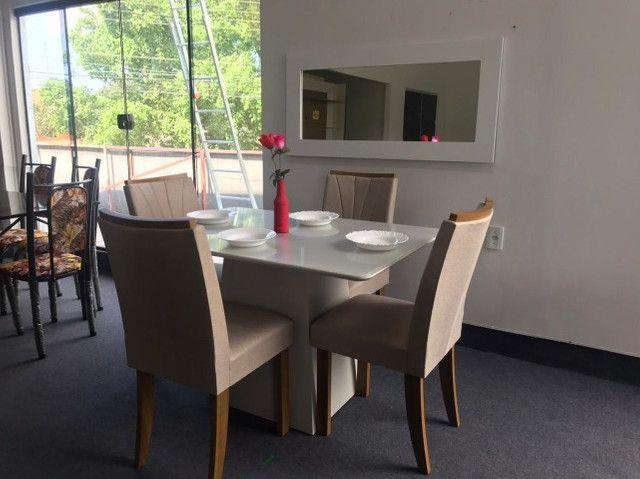 Mesa 4 Cadeiras Celebrare medida do tampo 120X80  com Espelho com Moldura - Foto 5