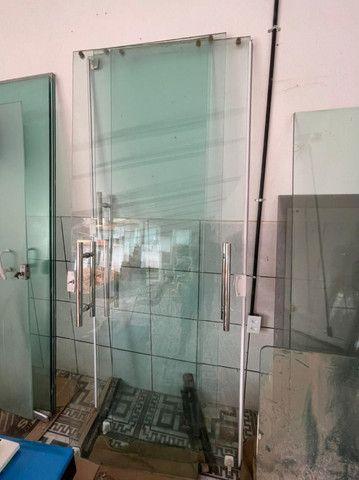 Porta de correr em Vidro temperado 10mm - Foto 3