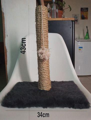 Arranhador artesanal para gatos - Foto 4