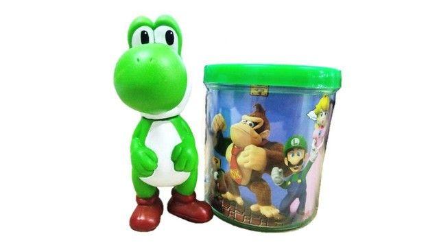 Boneco Yoshi + Caneca - Super Mario Bros - Loja Coimbra Computadores - Foto 4