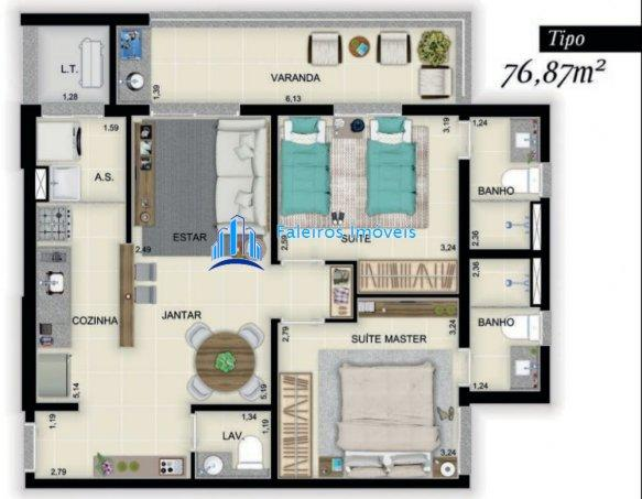 Lançamento Apartamentos 2 suítes Nova Ribeirania - Apartamento em Lançamentos no... - Foto 12