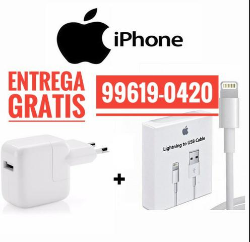 Carregador Completo iPhone Com Garantia Entrega Grátis Aceito Cartão