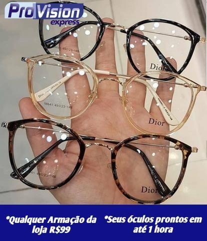 b172124a9 Qualquer armação 99.90 seus óculos prontos em 1 hora confira disponibilidade