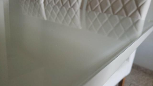 Mesa de Jantar 06 cadeiras Sofia Vidro Off White - Foto 4
