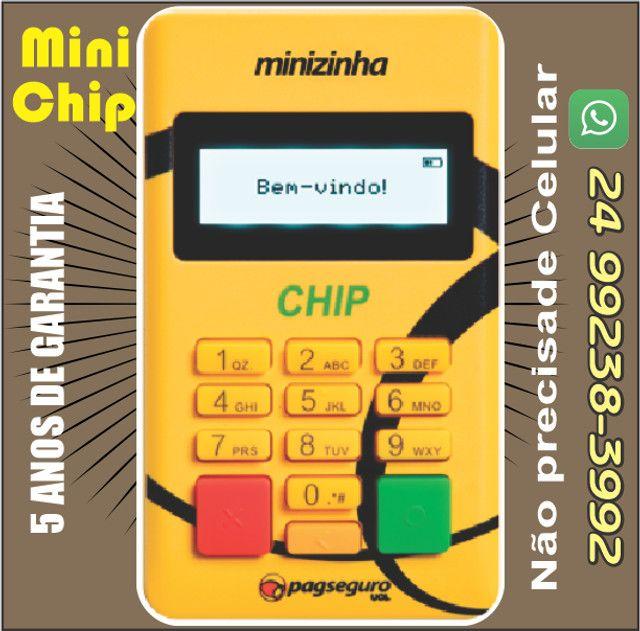 Mini Chip Maquina de Cartão -não precisa de celular - Foto 3