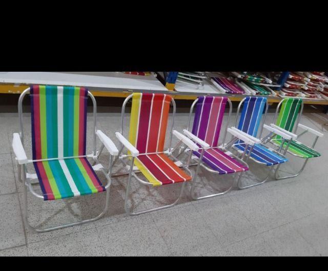 Cadeiras de praia ALUMÍNIO e cooler