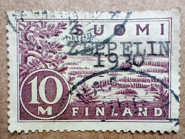 Selo Zeppelin 1930 - Finlandês - Raridade