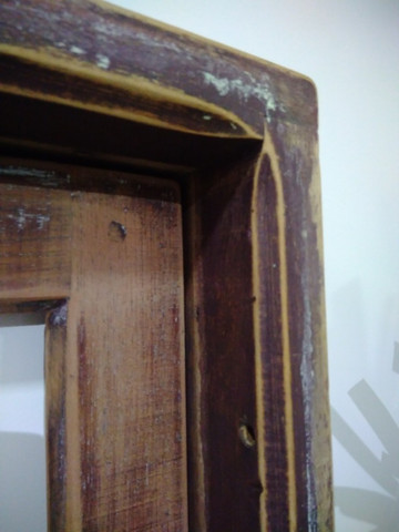 Janela antiga de madeira - Foto 5