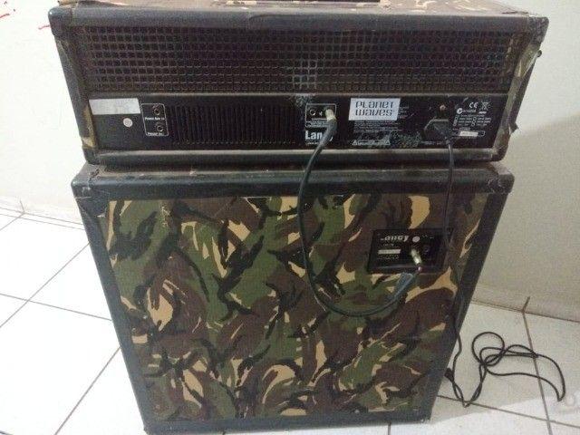 Cabeçote cubo amplificador de guitarra Laney LX120RH Camo + caixa Laney LX412A Camo - Foto 5