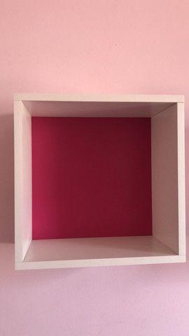 3 Nichos para decoração com fundo rosa - Foto 2