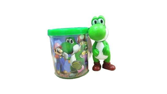 Boneco Yoshi + Caneca - Super Mario Bros - Loja Coimbra Computadores - Foto 3
