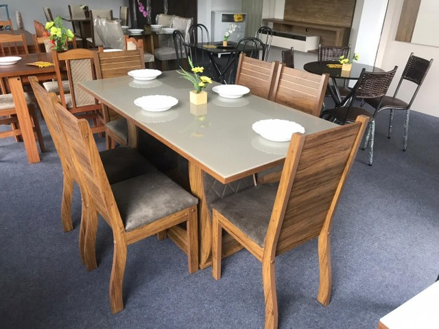 Mesa de Jantar Viero 6 Cadeiras  160/80  - Foto 2