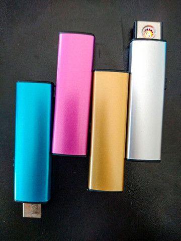 Isqueiro Elétrico Recarregável USB Evite Acidente Com Álcool  - Foto 3