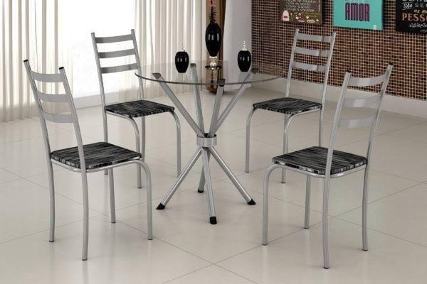 Mesa com 4 Cadeiras A470 - Ipanema