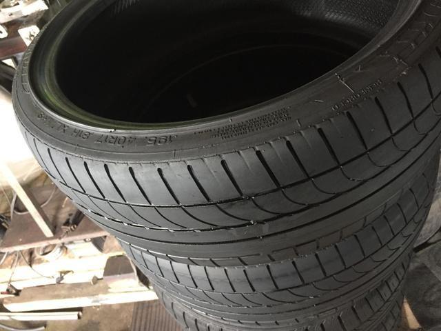 Dois pneus 195/40-17 Meia vida