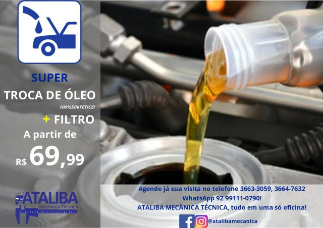 Troca de óleo e filtro Ataliba Mecanica