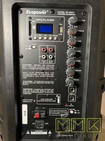 Caixa De Som Amplificada Ecopower 10 polegadas Bluetooth- Nova - Foto 5