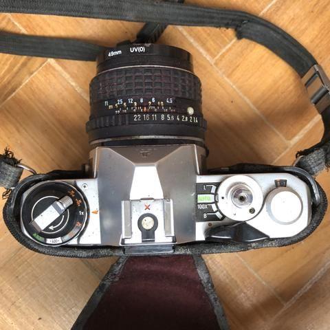 Máquina fotográfica manual pentax