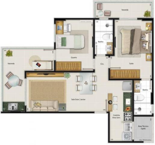 Apartamento para venda em vitória, praia do canto, 2 dormitórios, 1 suíte, 2 banheiros, 2  - Foto 12